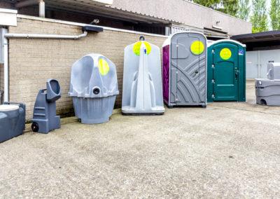 Toiletvoorzieningen zonder afvoer